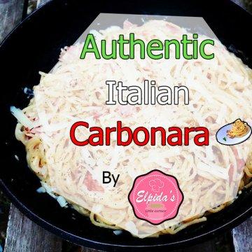 Authentic Italian Carbonara Αυθεντική ιταλική καρμπονάρα