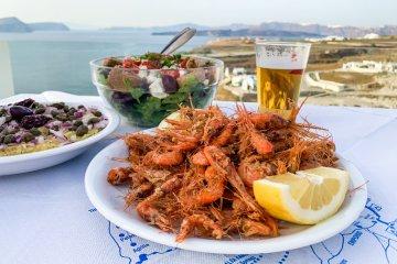 Τοπική κουζίνα Σαντορίνης Santorini local cuisine